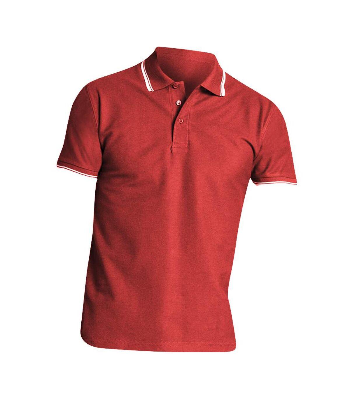 SOLS Mens Practice Tipped Pique Short Sleeve Polo Shirt (Black/White) - UTPC321