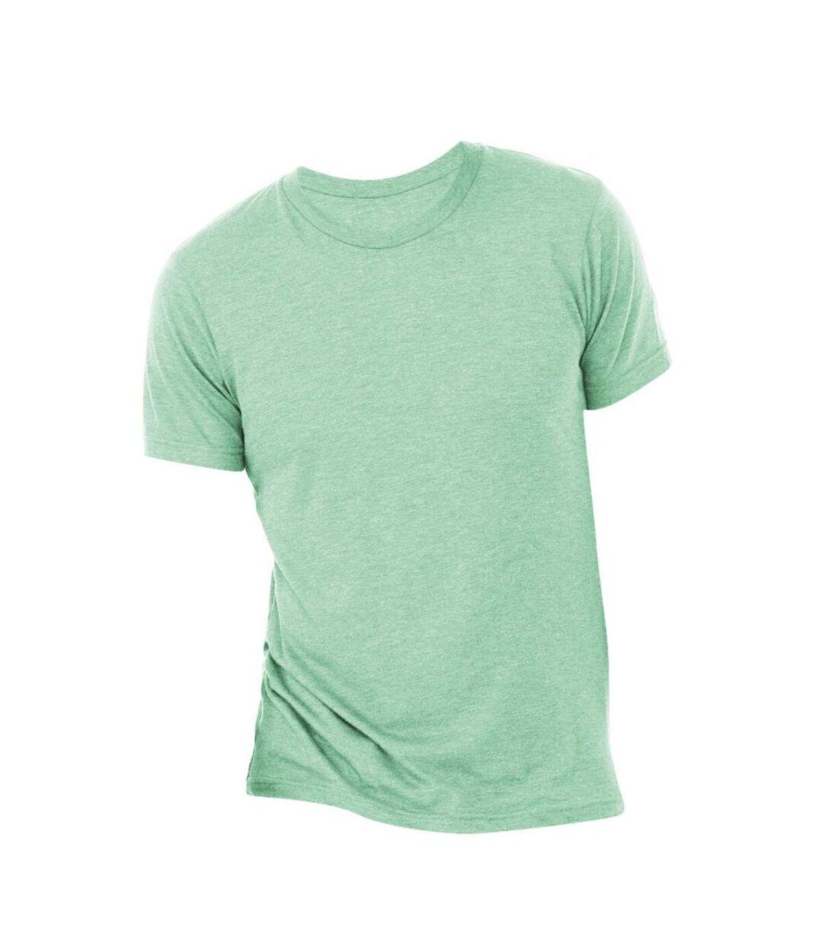 Canvas Mens Triblend Crew Neck Plain Short Sleeve T-Shirt (Mint Triblend) - UTBC2596