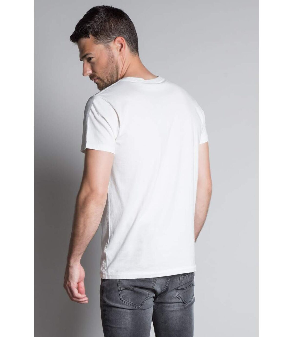 T-shirt photo tête de mort CLEM White