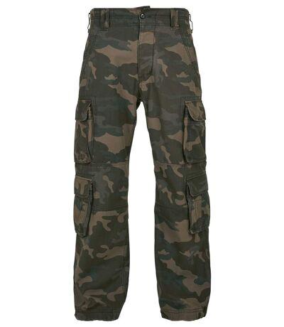 Pantalon cargo vintage homme multipoches - 1003 - vert camo
