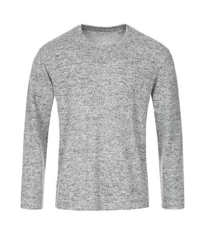 Stedman Mens Stars Crew Neck Knitted Sweater (Light Grey Melange) - UTAB466