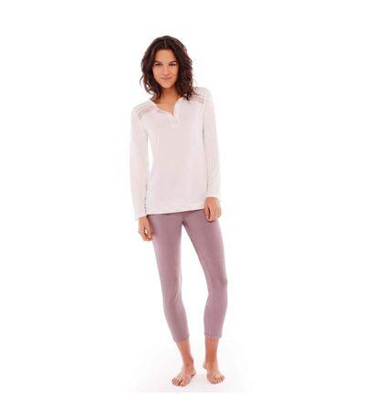 Pyjama ivoire/cuivre Imprésario POMMPOIRE