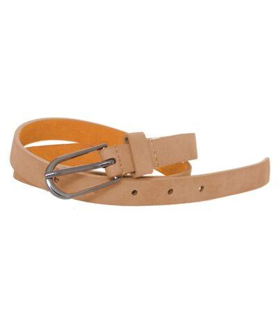 Forest Womens/Ladies Simple Leather Belt (Beige) - UTBL175