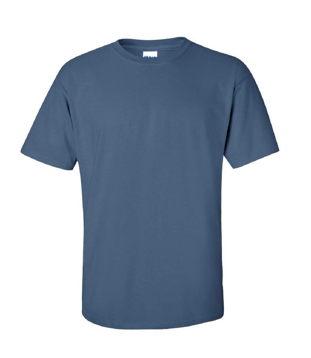 Gildan Mens Ultra Cotton Short Sleeve T-Shirt (Indigo Blue) - UTBC475