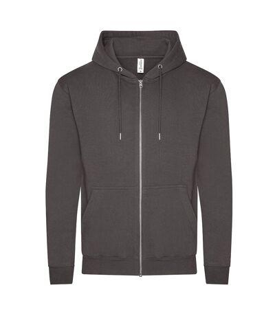 Awdis Mens Organic Full Zip Hoodie (Charcoal) - UTPC4334
