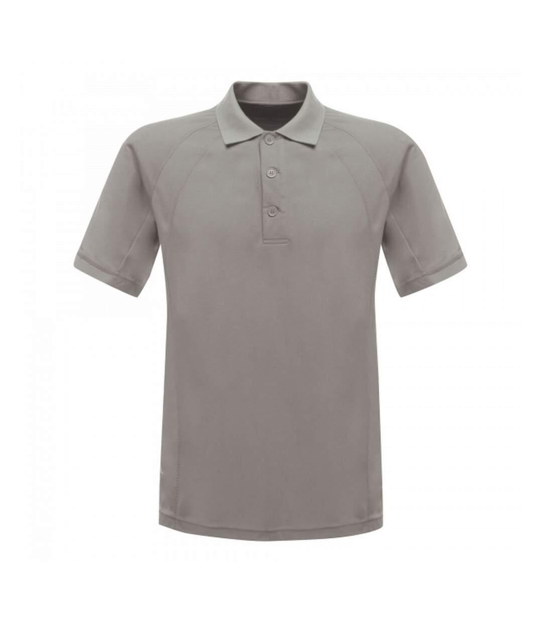 Regatta Professional Mens Coolweave Short Sleeve Polo Shirt (Silver Grey) - UTRG2161