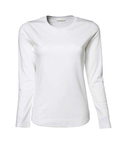 Tee Jays Womens/Ladies Interlock Long Sleeve T-Shirt (White) - UTBC3322