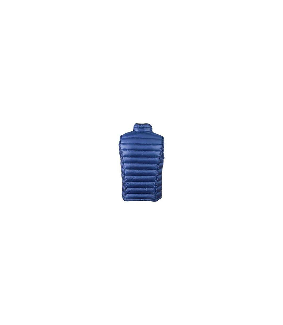 Gilet sans manche matelassé duvet HOMME - JN1080 bleu - doudoune anorak
