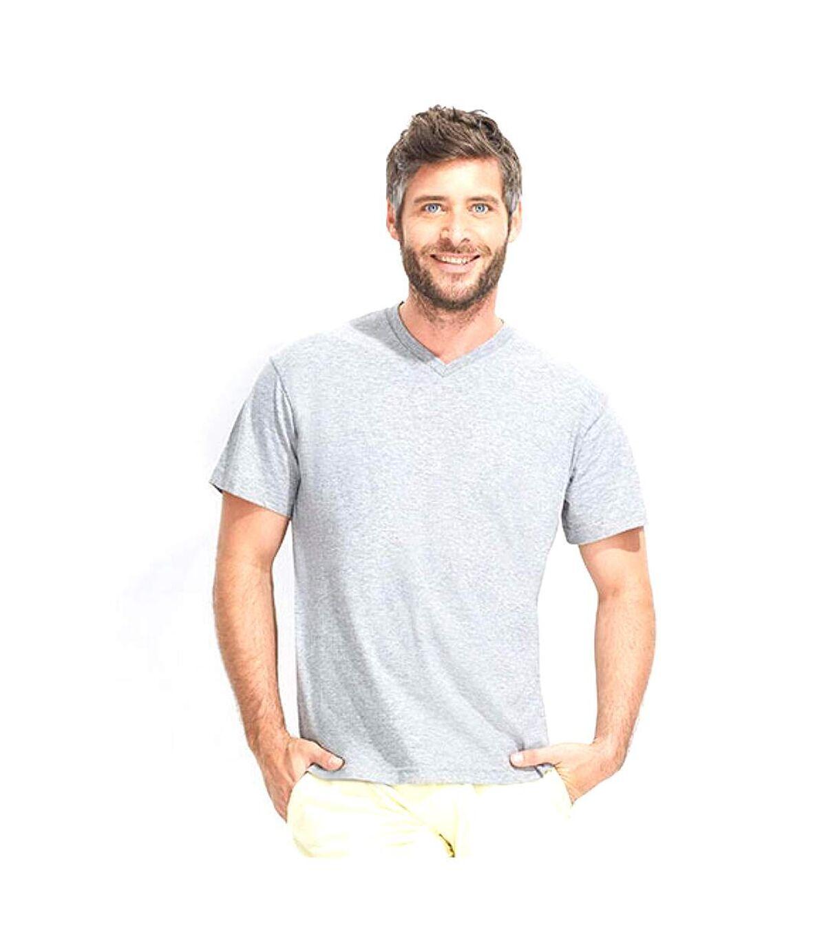 SOLS Mens Victory V Neck Short Sleeve T-Shirt (White) - UTPC388
