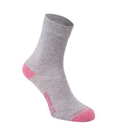 Craghoppers Womens/Ladies Single NosiLife Travel Sock (Soft Grey Marl) - UTCG680