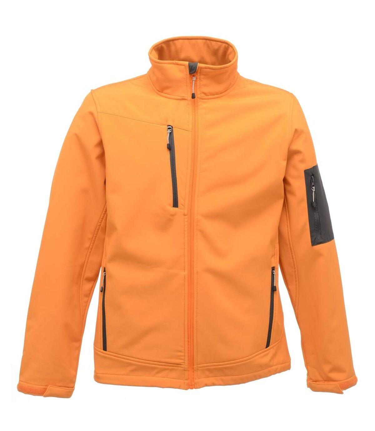 Regatta Standout Mens Arcola 3 Layer Softshell Jacket (Waterproof And Breathable) (Sun Orange / Seal Grey) - UTRW3691