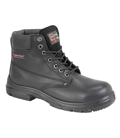 Grafter Mens Wide Fitting Lace Up Safety Boots (Black) - UTDF1179