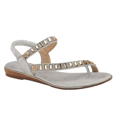 Cipriata Womens/Ladies Rita Jewelled Sandals (Silver) - UTDF1924