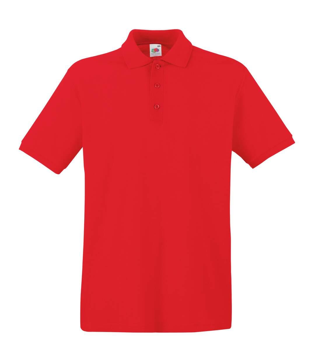 Fruit Of The Loom Premium Mens Short Sleeve Polo Shirt (Burgundy) - UTBC1381