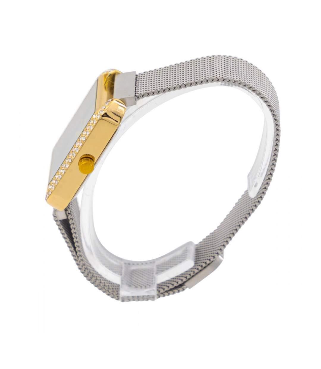 Dégagement Coffret montre Femme GIORGIO bracelet Acier Argenté dsf.d455nksdKLFHG