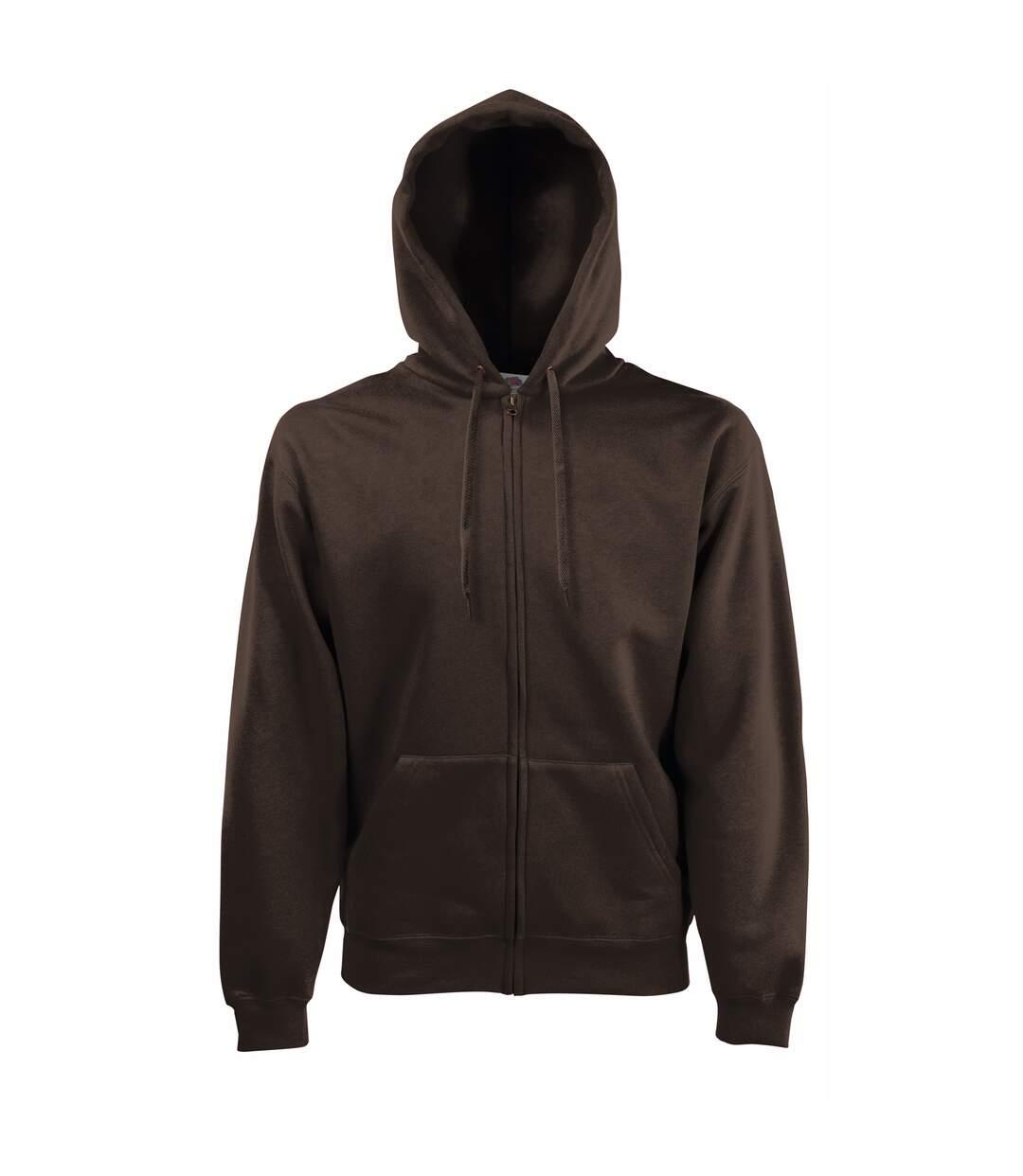 Fruit Of The Loom Mens Premium 70/30 Hooded Zip-Up Sweatshirt / Hoodie (Charcoal) - UTRW3161