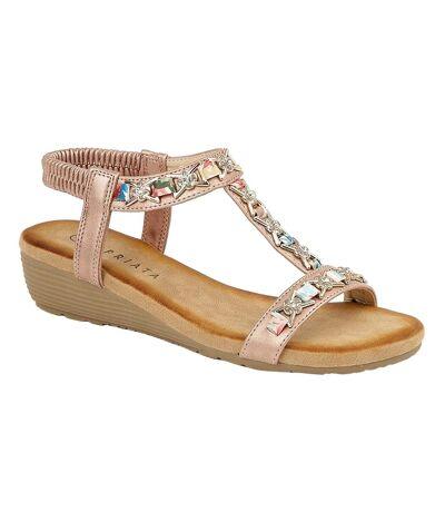 Cipriata Womens/Ladies Lia Sandals (Rose Gold) - UTDF1557