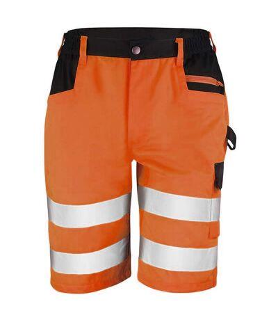 Result Core Mens Reflective Safety Cargo Shorts (Pack of 2) (Orange) - UTRW6890