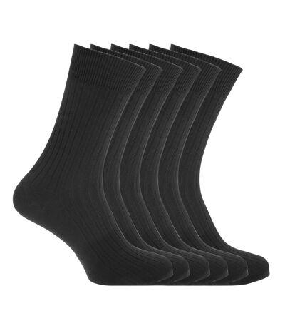 FLOSO - Chaussettes striées (6 paires) - Homme (Noir) - UTMB466