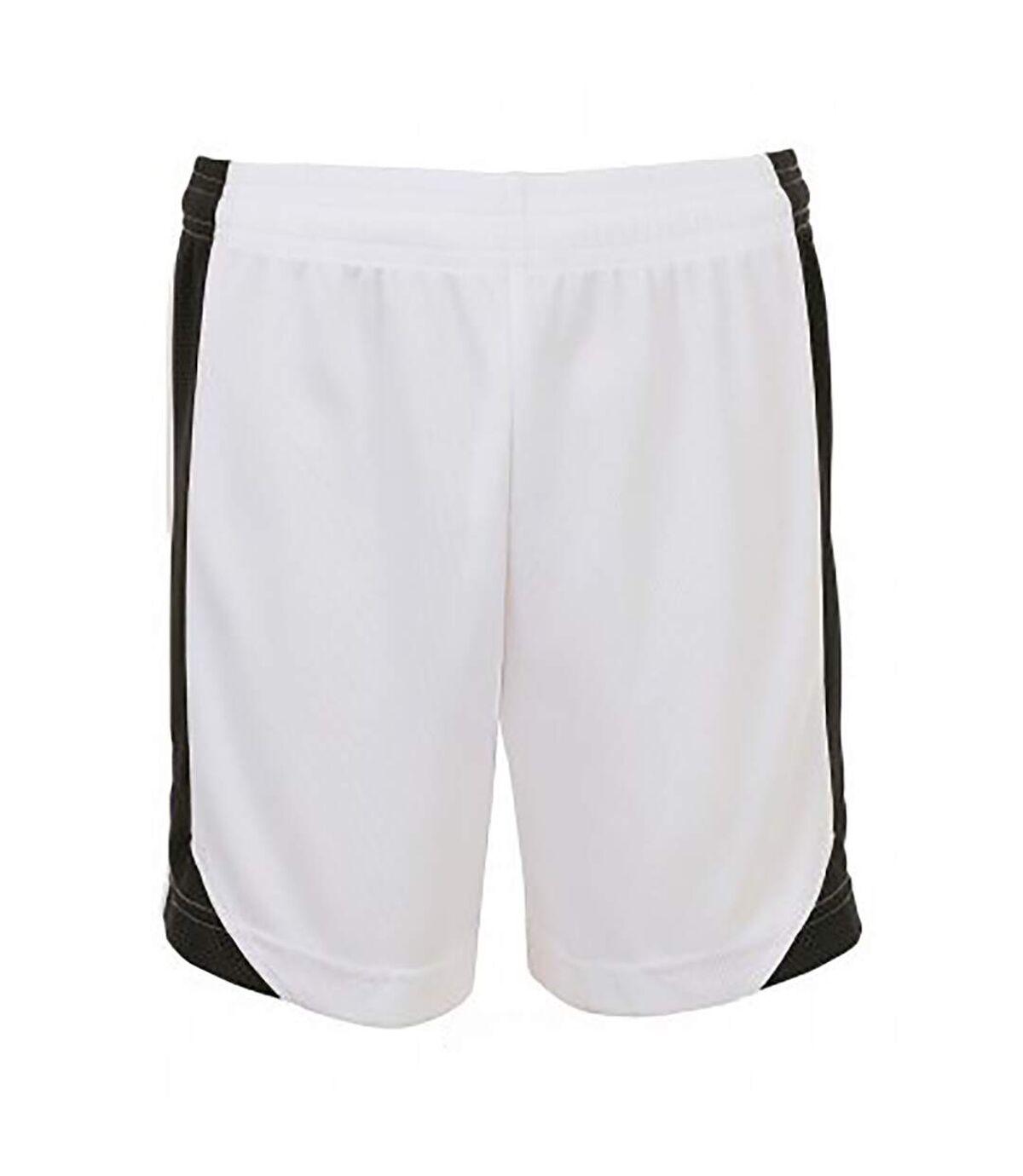 SOLS Mens Olimpico Football Shorts (White/Black) - UTPC2788