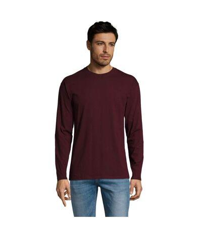SOLS Mens Monarch Long Sleeve T-Shirt (Oxblood) - UTPC313