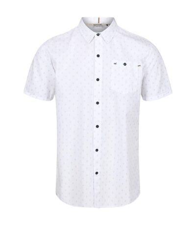 Regatta Mens Dalziel Short Sleeved Shirt (White) - UTRG4928