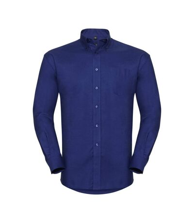 Russell Collection Mens Long Sleeve Easy Care Oxford Shirt (Bright Royal) - UTBC1023