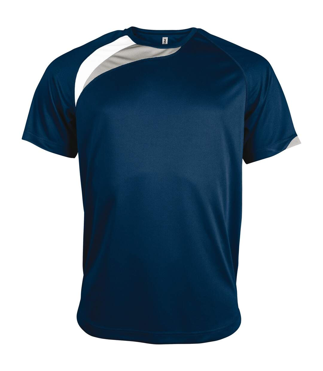 Kariban Proact Mens Short Sleeve Crew Neck Sports T-Shirt (Red/ Black/ Storm Grey) - UTRW4243