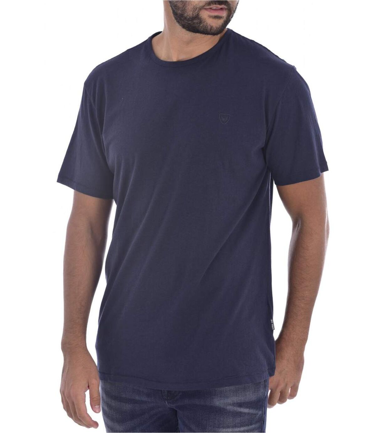 Tee shirt uni en coton   -  Kaporal - Homme