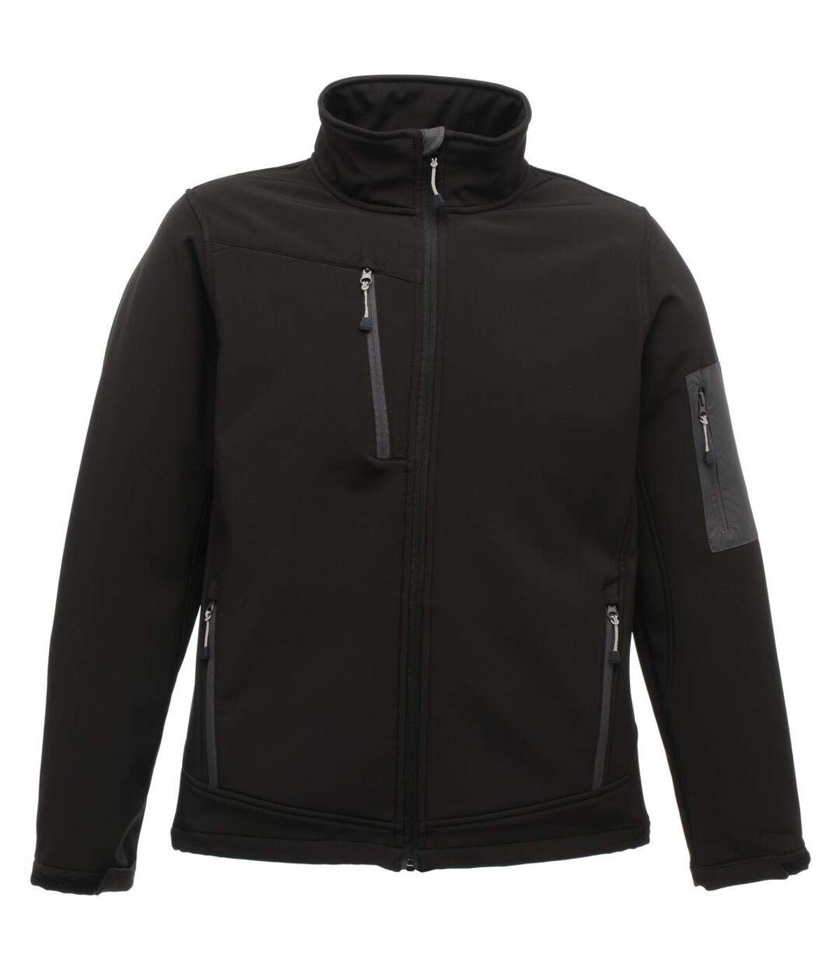 Regatta Standout Mens Arcola 3 Layer Softshell Jacket (Waterproof And Breathable) (Black / Seal Grey) - UTRW3691