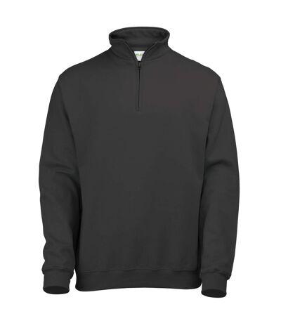 Awdis Mens Plain Sophomore ¼ Zip Sweatshirt (Heather Grey) - UTRW177