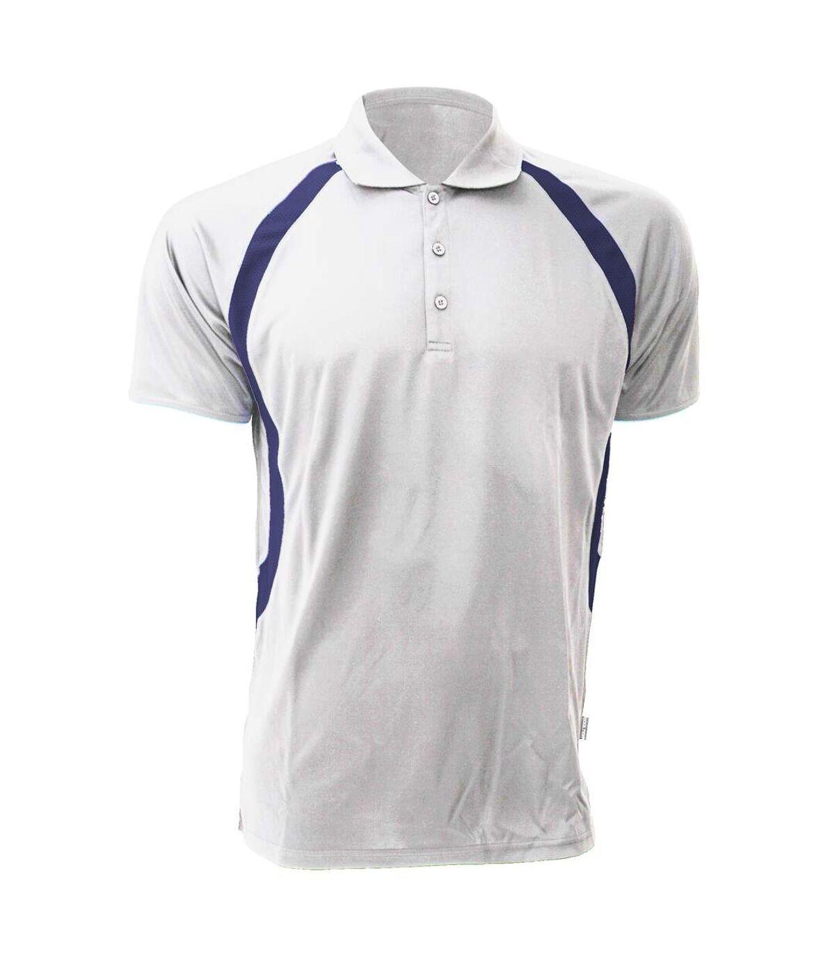 Gamegear® Mens Cooltex® Riviera Polo Shirt / Mens Sportswear (White/Navy) - UTBC434