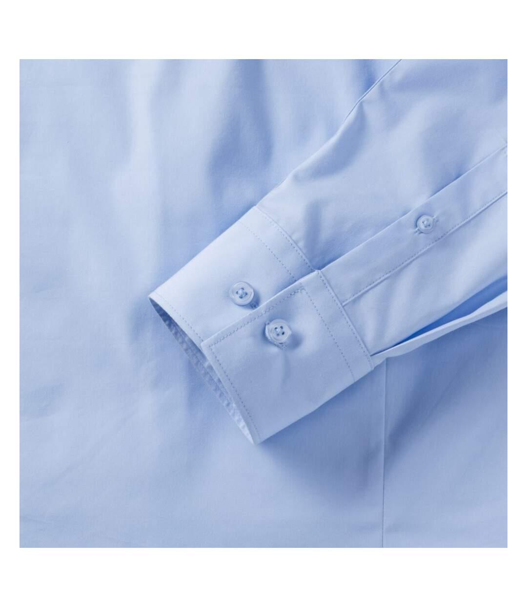 Russell Mens Stretch Moisture Management Work Shirt (Bright Sky) - UTBC2737