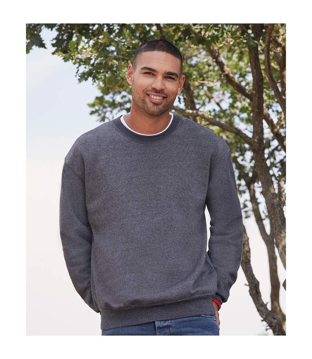 Fruit Of The Loom Mens Set-In Belcoro® Yarn Sweatshirt (Heather Navy) - UTBC365