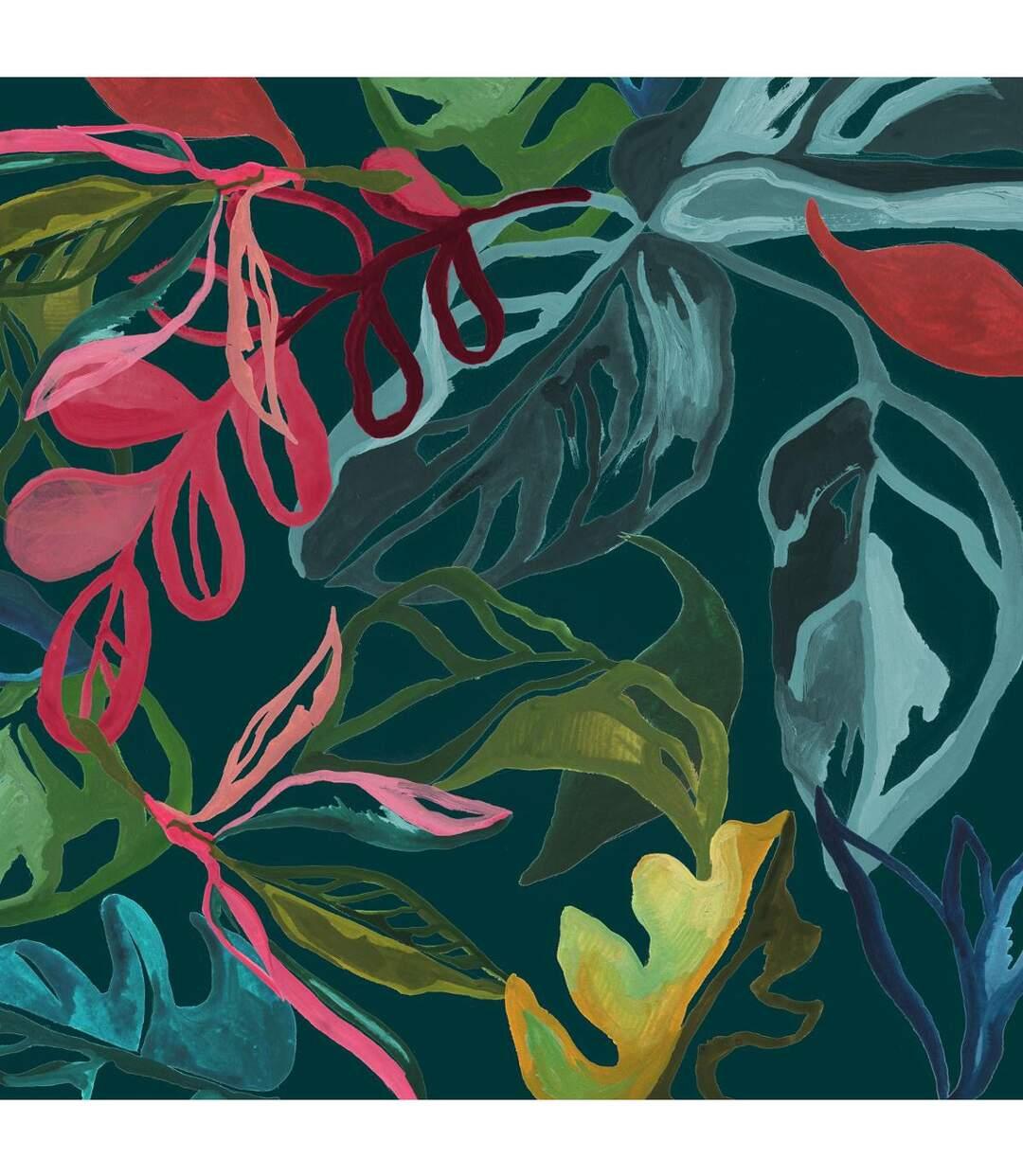 Atmosphera - Parure de lit 2 Personnes 240 x 220 cm Housse de couette avec 2 taies Imprimé Selva