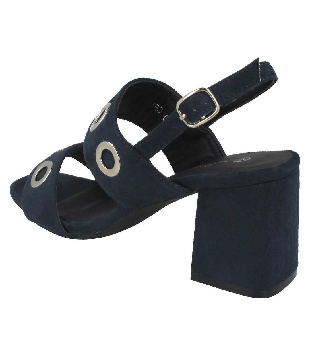 Grande Vente Anne Michelle Mid Heel Chaussures À Œillets Femme Bleu marine UTKM503 dsf.d455nksdKLFHG