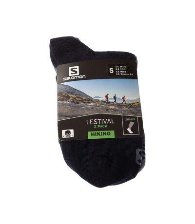 Chaussette Basses - Lot de 2 - Talon renforcé - Pointe renforcée - Marche - Fine - Coton - Multicolore - Socks festival 2-pack