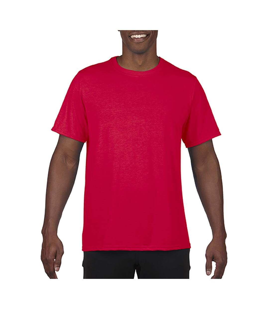 Gildan Mens Core Short Sleeve Moisture Wicking T-Shirt (Sport Scarlet Red) - UTBC3715