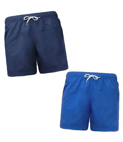Lot 2 shorts de bain pour homme - bleu marine et aqua