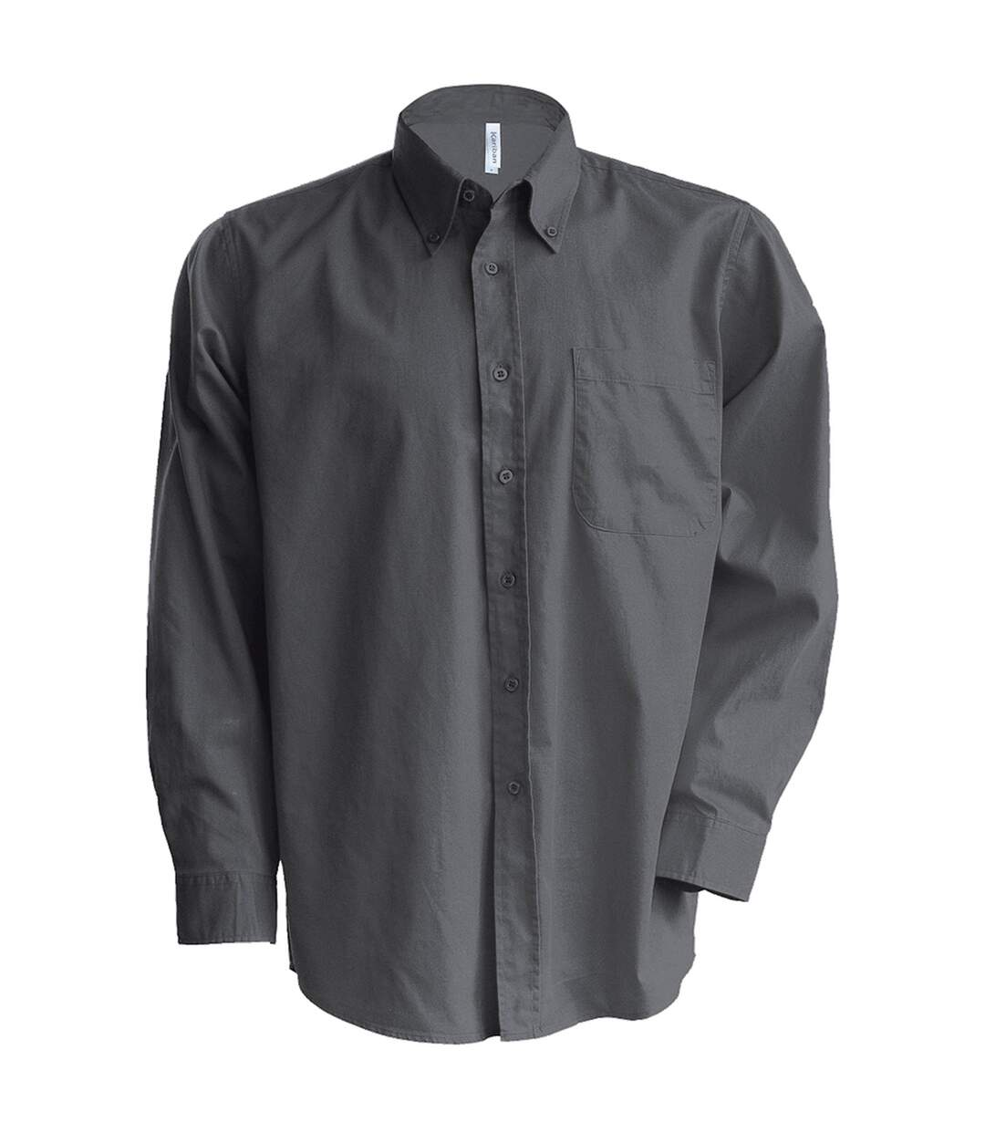 Kariban Mens Long Sleeve Easy Care Oxford Shirt (Oxford Blue) - UTRW719