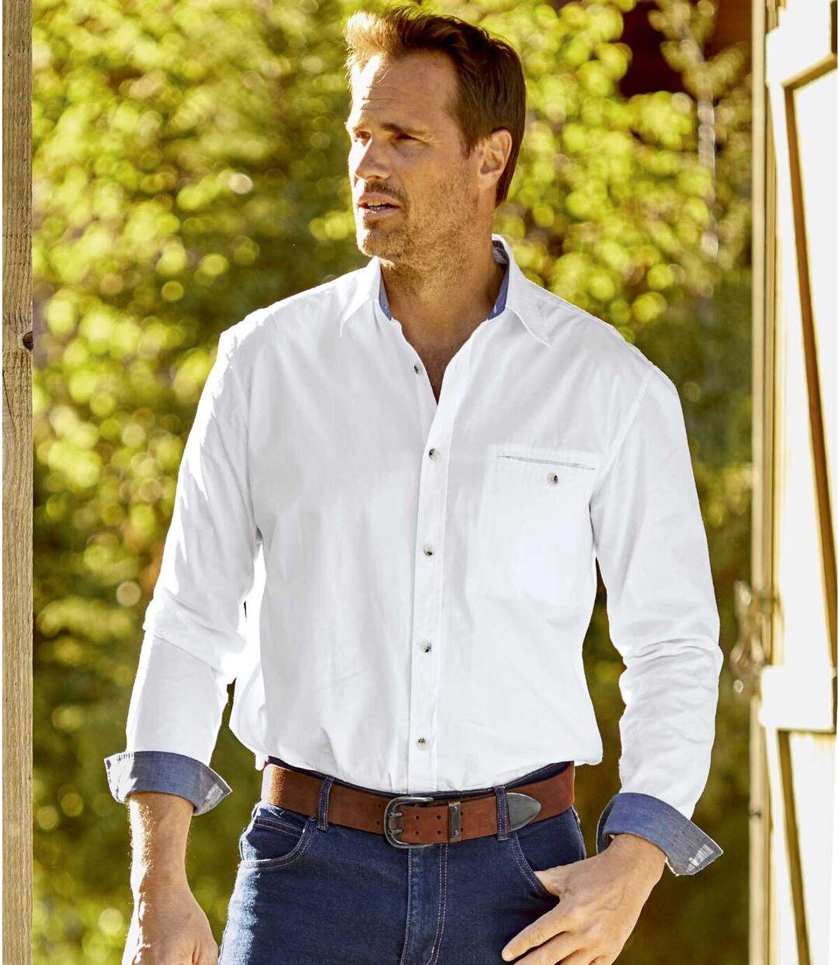 Popelinowa koszula Casual Chic Atlas For Men