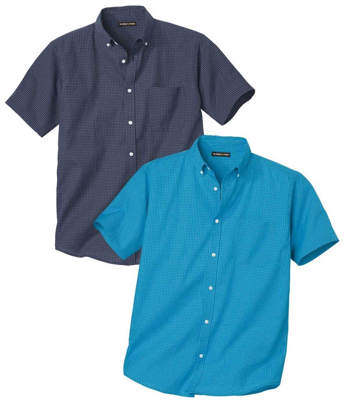 2er-Pack karierte Hemden Blue Sky Atlas For Men