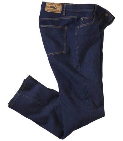 Men's Dark Blue Regular Stretch Jeans