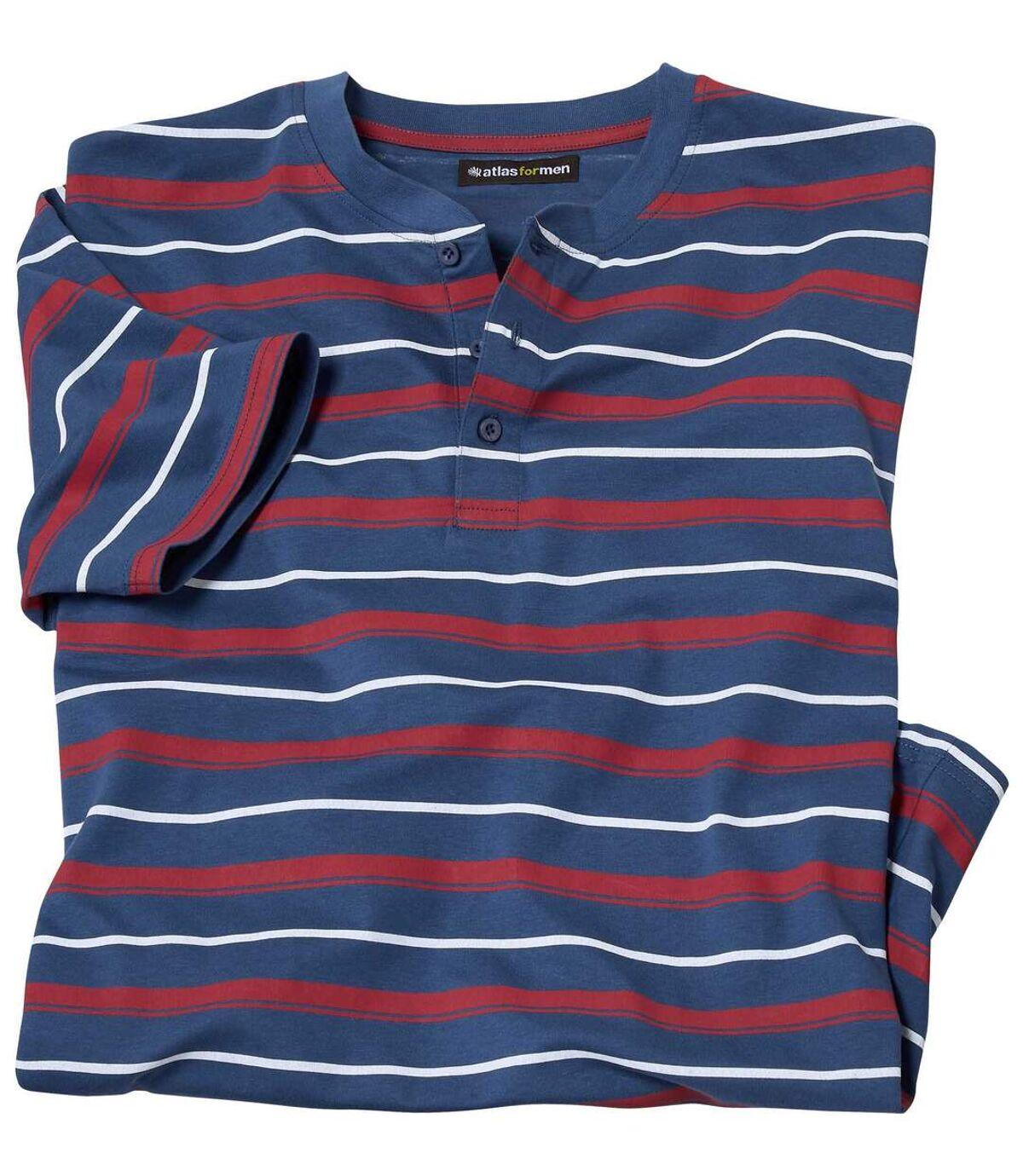 Men's Striped Blue T-Shirt Atlas For Men