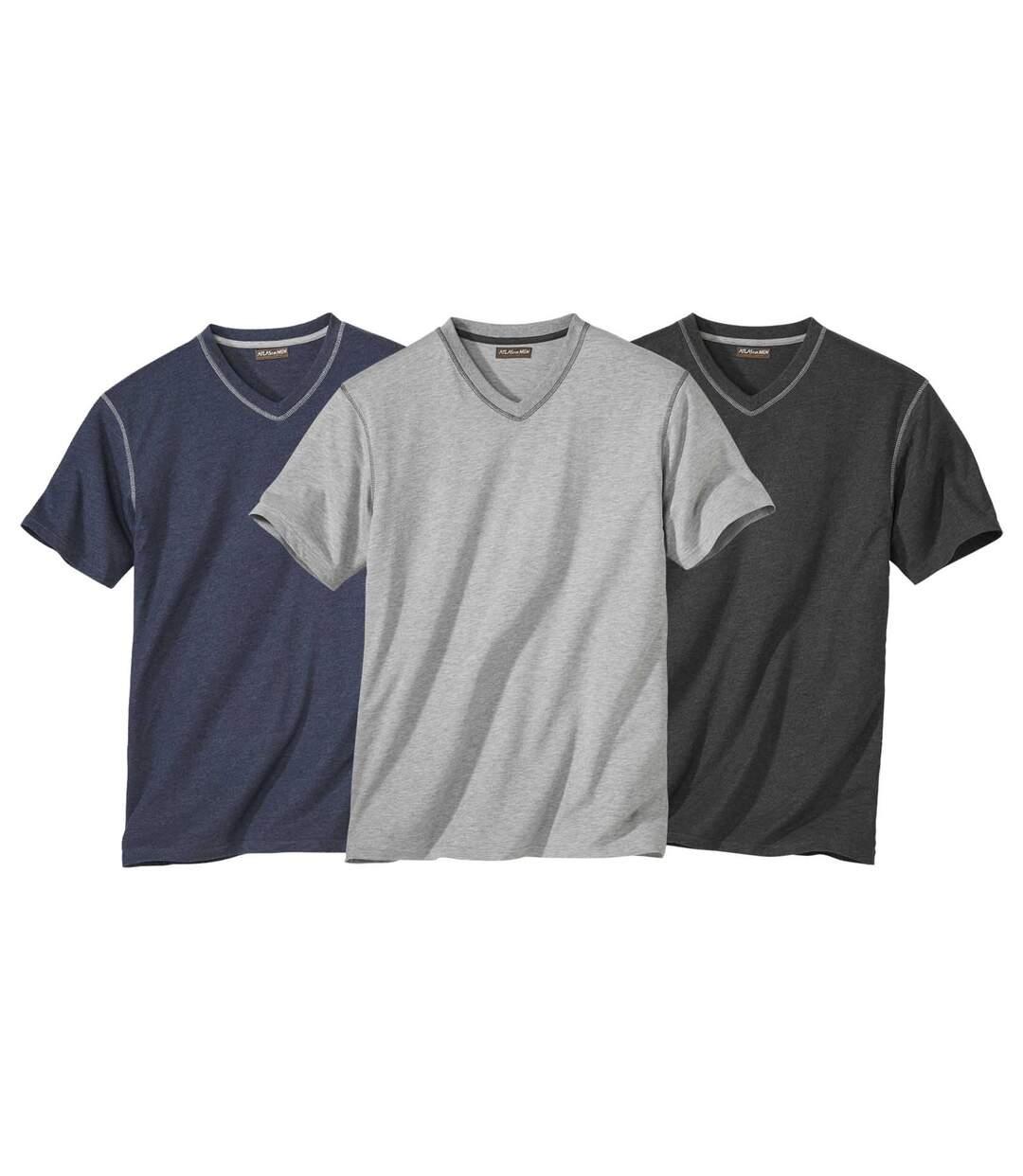 Sada 3 triček s výstřihem do V