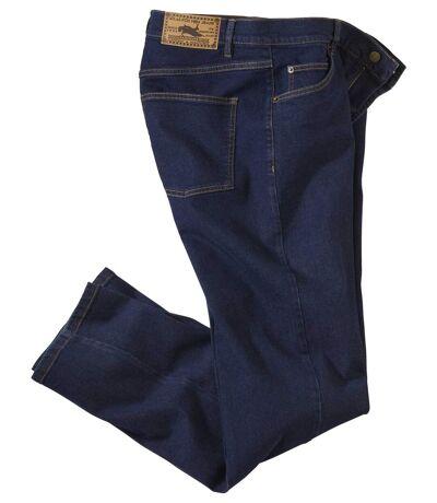 Men's Versatile Blue Stretch Jeans