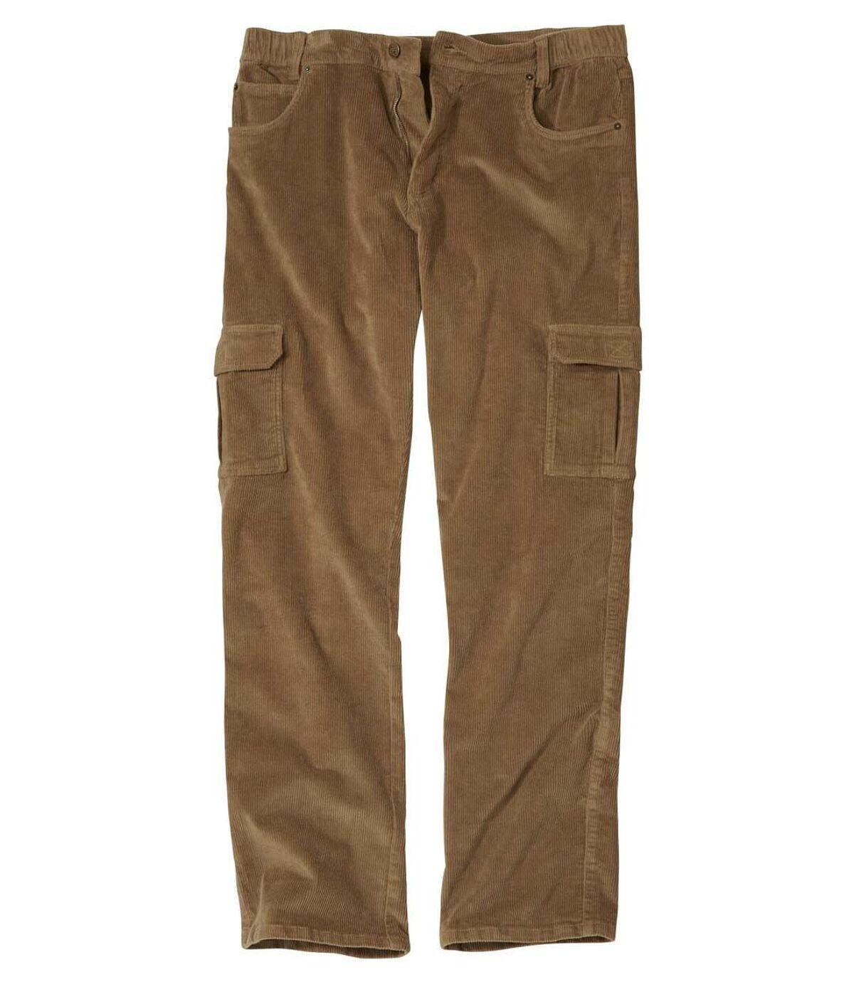 Welurowe spodnie bojówki ze stretchem Atlas For Men