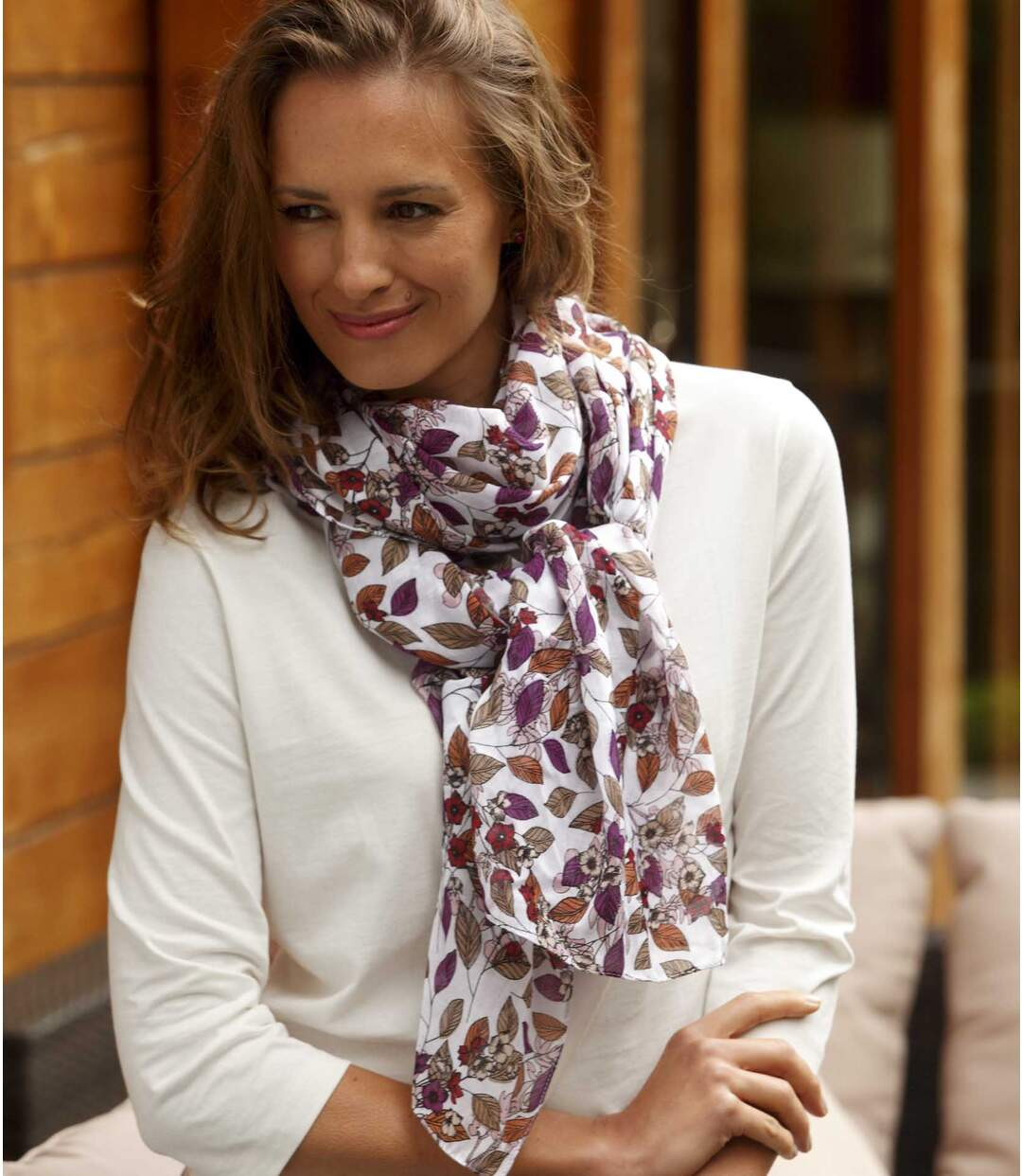 Women's Autumn Scarf - Multi-Coloured
