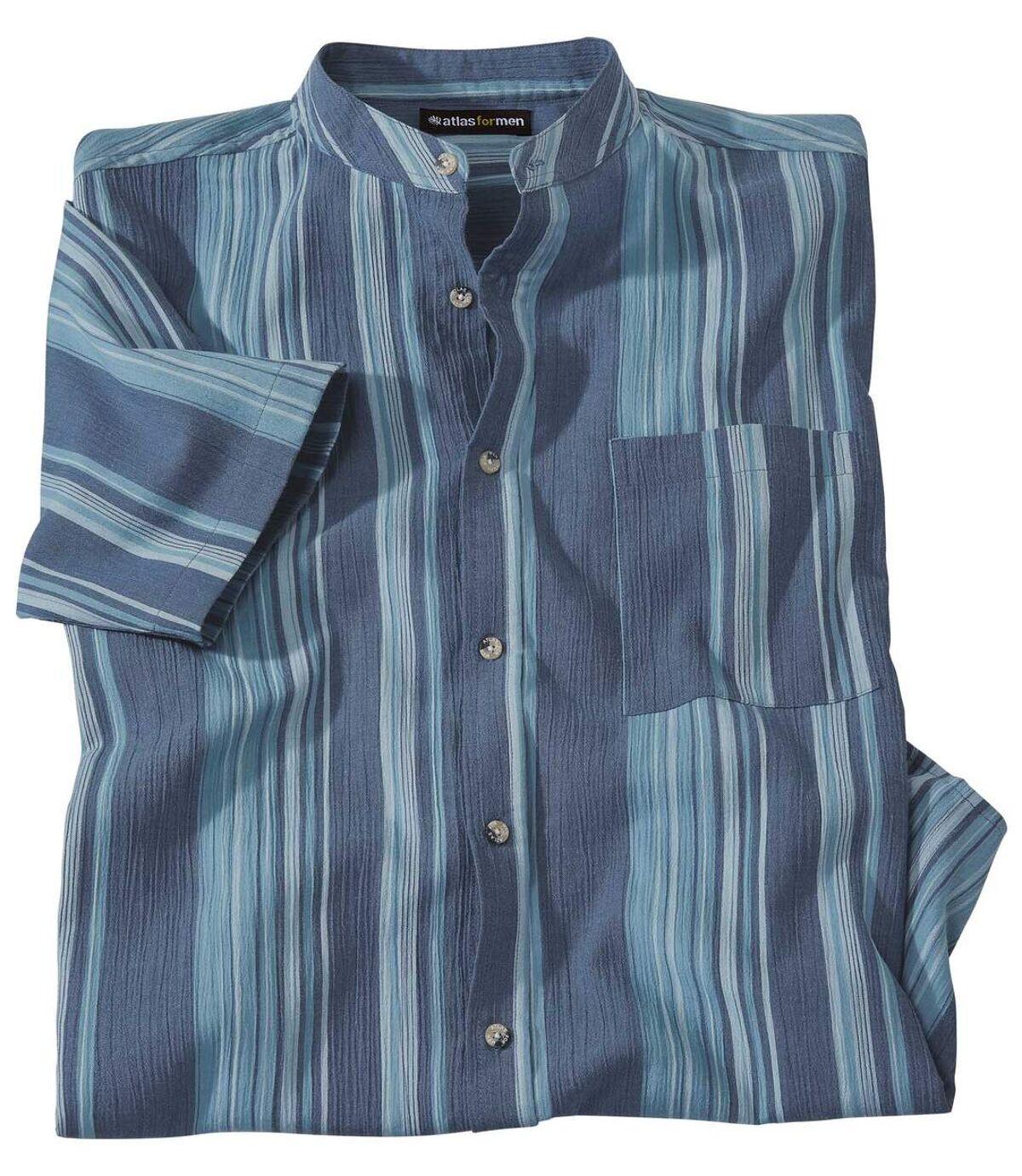 Рубашка из Крепона с Воротником Мао Atlas For Men