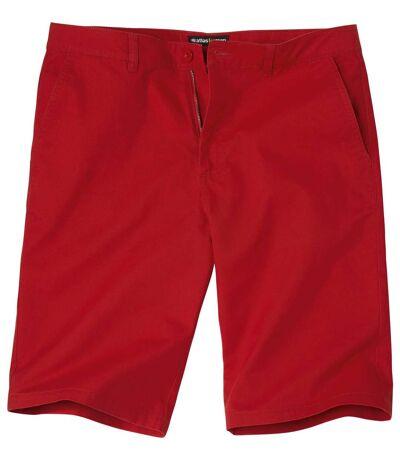 Men's Red Chino Shorts